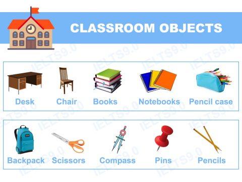 Học từ vựng tiếng Anh theo chủ đề – Chủ đề lớp học (Classroom Objects)
