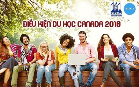 Điều kiện du học Canada 2018 bậc THPT, cao đẳng đại học và cao học