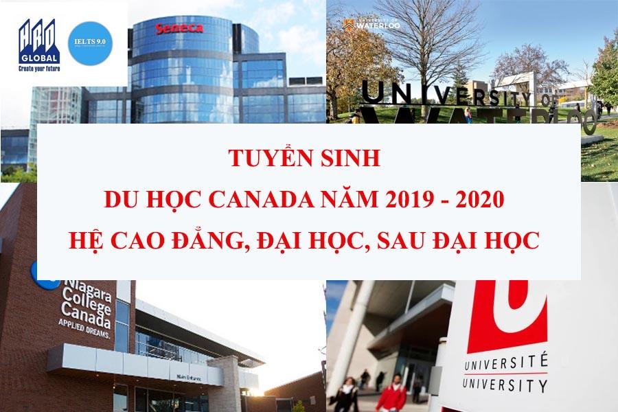 tuyển sinh du học Canada năm 2019-2020 hệ cao đẳng, đại học và sau đại học